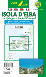 Cartina Elba.Isola D Elba Mini Carta E Guida Turistica 1 50 000 Mappa Cartina