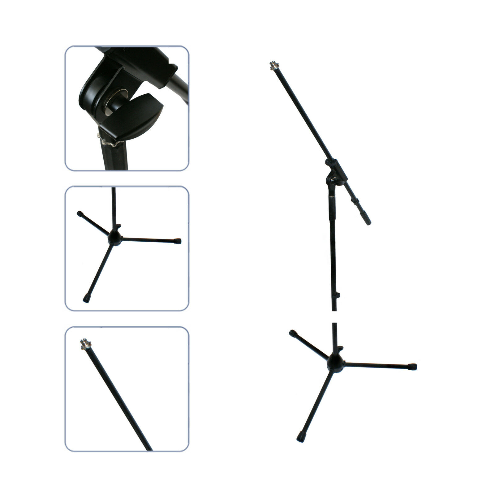 Mic/Microphone Height Adjustable Stand Removable Angle Boom Arm 1.6m Bracket