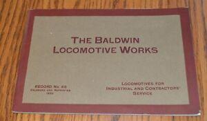 Original-1920-Baldwin-Industrial-amp-Contractors-Service-Locomotives-Catalog