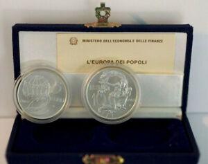 Italie 5 et 10 Euro 2003 Europe du Peuple Argent Italia Silver
