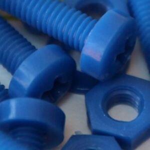 20-x-Viti-a-Testa-Arrotondata-Bulloni-e-dadi-Blu-M3-x-20mm-Acrilica