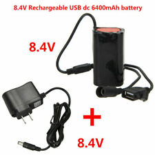 12000mAh 6x18650 Rechargeable 8.4v Battery Pack For Head Bicycle Lamp Light CC