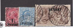 LEVANT-1920s-BPO-Constantinople-Postmarks-on-2-6-Chocolate-Seahorse-etc-CV-111