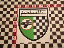 Scooter Shield Sticker- Lambretta Li TV GT SX Autocollant Adesivo Aufkleber
