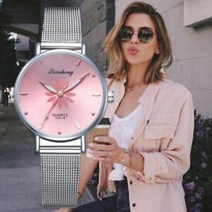 Frauen-Uhren-Analoge-Quarz-Armbanduhren-Armbanduhr-Damen-Mode-Schmuck-Metall