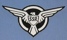 """Captain America Agent Carter S.H.I.E.L.D. SSR Embroidered patch 6"""" B&W"""