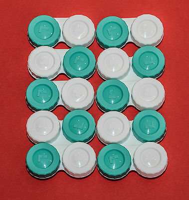10 Contact Lens Cases Standard  Flat Type  Brand New FREE PP