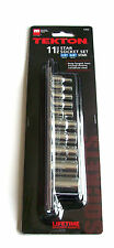 11pc TEKTON FEMALE E-TORX STAR SOCKET BIT SET 1355