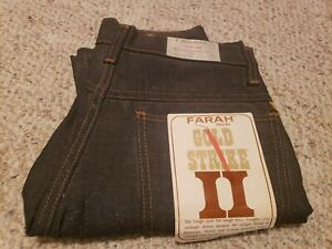 Farah-Gold-Strike-II-Boys-1970s-Vintage-29x23-034-MADE-IN-USA