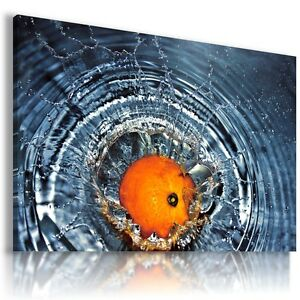 ORANGE-FRUITS-KITCHEN-View-Canvas-Wall-Art-Picture-Large-SIZES-F33-X