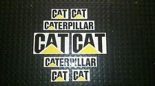 8x CAT Caterpillar Elevatore a Forche Adesivi Decalcomanie minidigger Escavatore Diesel