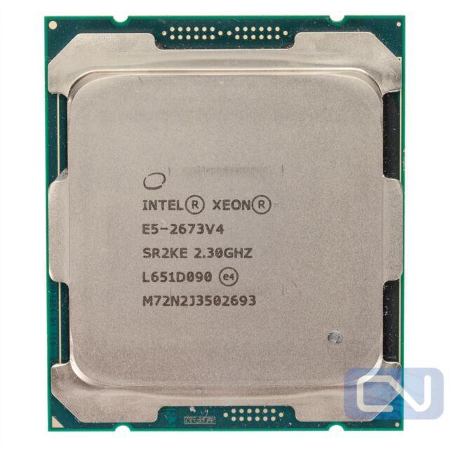 50MB 20 Core Intel Xeon E5-2673 V4 2.3GHz 9.60GT/s SR2KE LGA2011-3 B Grade CPU