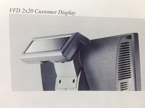 615 and 680 J2 Retail Systems Customer VFD 2 x 20 Display for Models 580 630