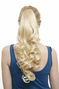 hair part braid ponytail noble curls blonde pale blonde very long 50cm sa06 1003 ebay