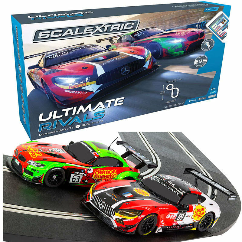 SCALEXTRIC Set C1356 ARC One Ultimate Rivals Set - Mercedes AMG GT3   BMW Z4 GT3