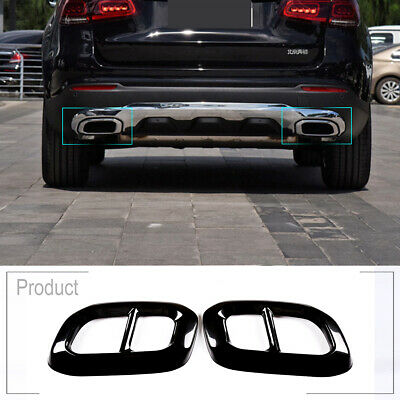 V8 Look For Benz GLE W167 Silver Double Exit Exhaust Muffler Pipe Steel