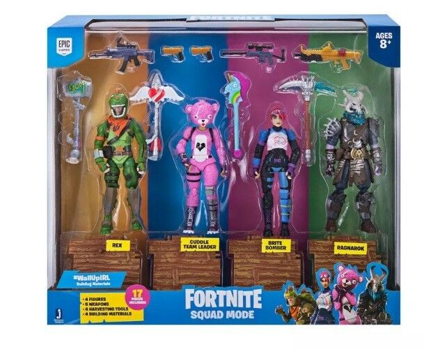 FORTNITE Squad Mode Rex, Cuddle Team Leader, Brite Bomber, and Rangarok Figures