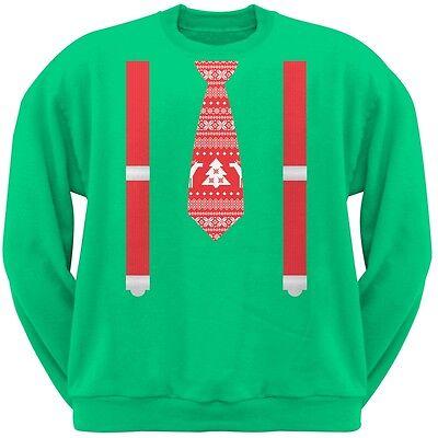 Ugly Xmas Sweater Tie Red Crew Neck Sweatshirt