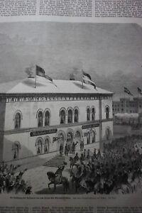1864 ème 19/la Gare Hôtel Kiel-afficher Le Titre D'origine