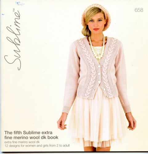 The Fifth Sublime Extra Fine Merino Wool DK Book 658-12 Designs Women /& Girls