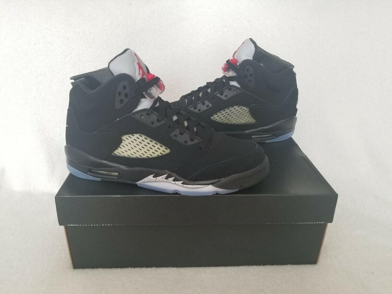 2016 (OG) Retro Jordan  Metallic BLK  5's in A Size  7.0