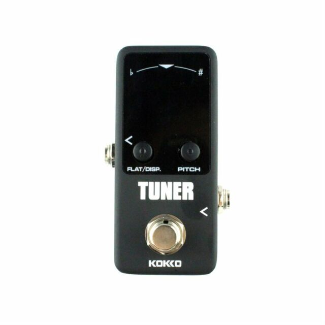 Pedal Tuner Guitar Bass Violin Stringed Instruments Tuner Effect Device U0