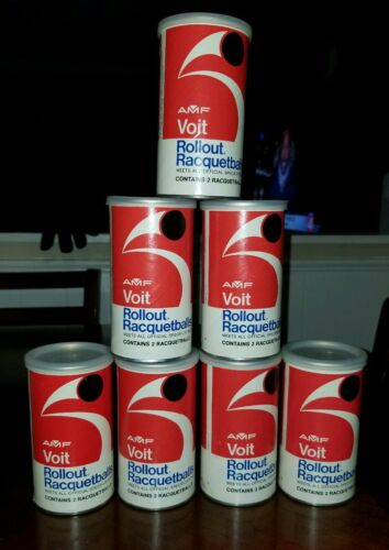 AMF Voit Rollout Raquetballs BLACK BALLS Red Cans Rare
