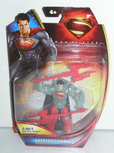 "DC Superman Man of Steel Krypton Combat Superman Mattel 3-3//4/"" Scale 2013"