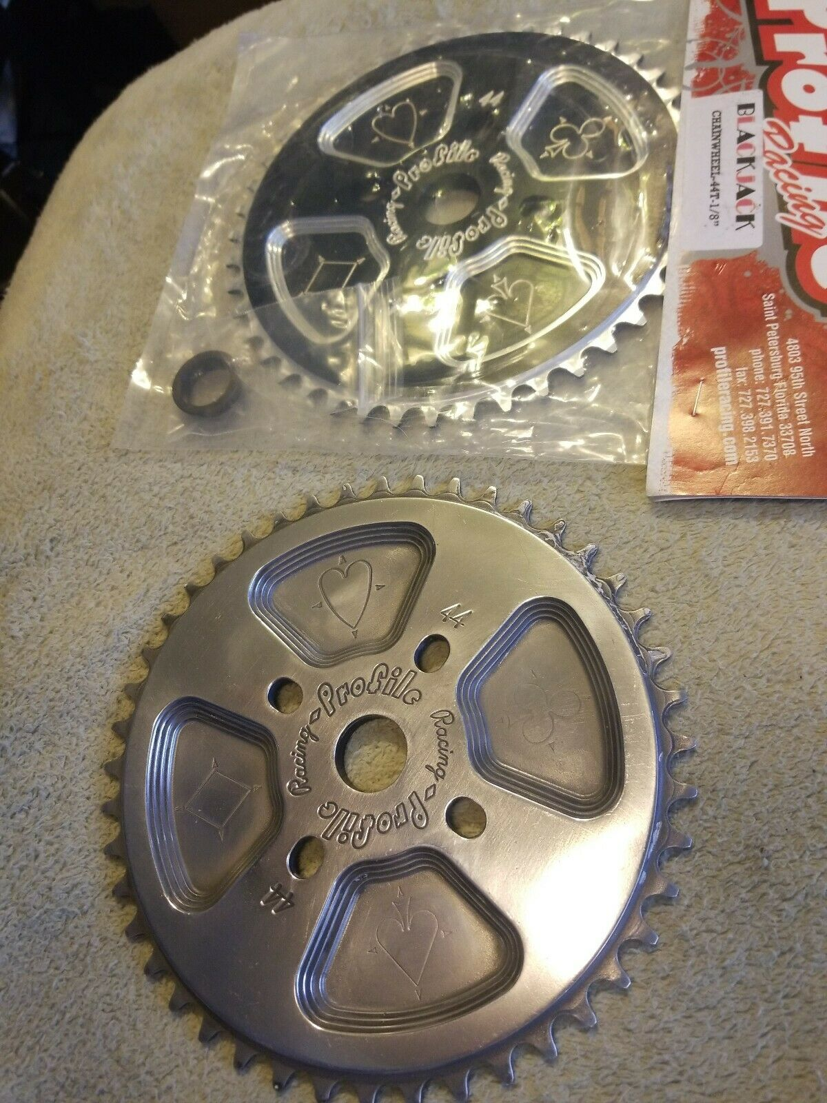 Get 2 Profile Racing BMX bike SPROCKET s 44t chainrings Fits gt haro profile
