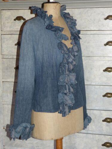ottime 3 Jean Blue condizioni Giacca Ddd Anne 40 T Fontaine 42 In KFwKvRYq