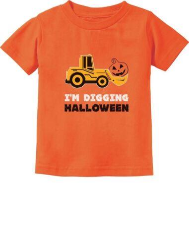 Pumpkin Face Tractor I/'m Digging Halloween Cute Toddler Kids T-Shirt Gift