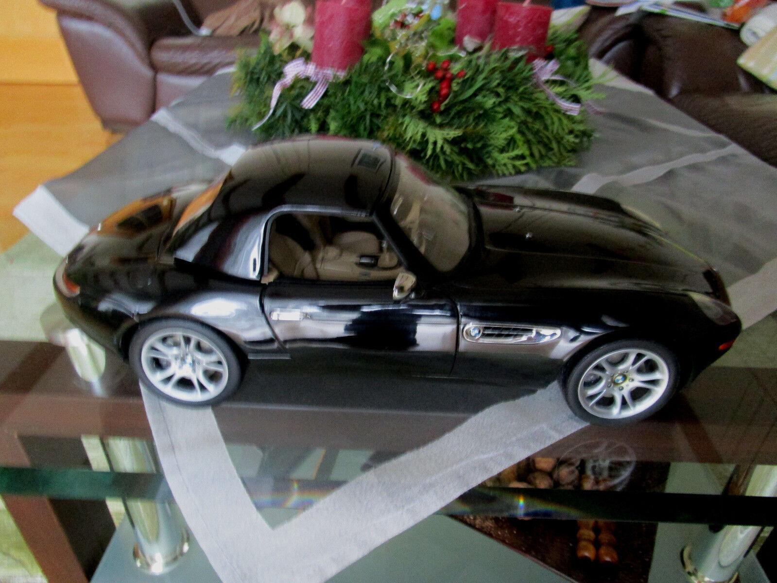 BMW z8 1 12 Kyosho Noir, Cuir Veritable Beige Neuf dans sa boîte NEUF