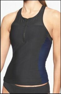 NEW ATHLETA DRESS BLUE WHITE OFFSHORE TANKINI SWIM TOP S
