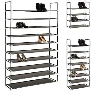 Étagère à chaussures 81x32x46 cm ouvert Armoire à chaussures 2 tablettes stables banc schuhbank B