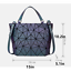 Geometric-Luminous-Women-Handbag-Holographic-Reflective-Matte-handbag-Holiday thumbnail 74