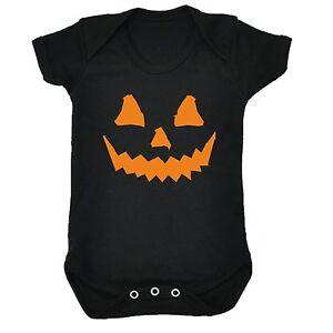 Traje-de-cuerpo-Calabaza-de-Halloween-Babygrow-recien-nacido-espeluznante-espeluznante-Moda-Regalo