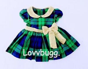 American Girl Bitty Baby 15 Holiday Plaid Doll Dress