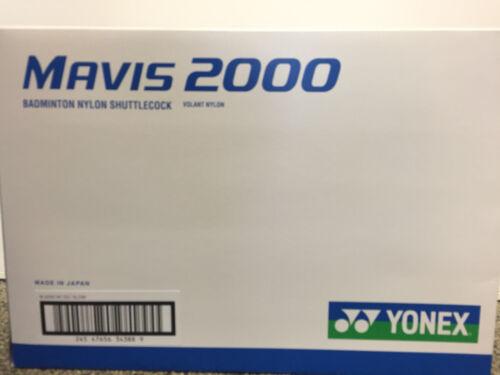 Yonex Mavis 2000 Nylon Plastik Federball Badmintonball Farbe weiß//grün NEU