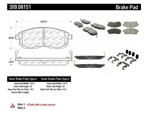 StopTech 309.08151 Street Performance Front Brake Pad