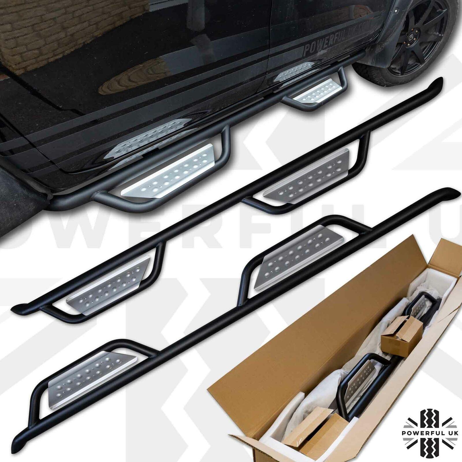 Side Bars+Step for Nissan Navara NP300 D23 Rock Sliders tube running board black
