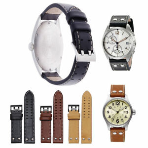 22mm-Double-Prong-Genuine-Leather-Watch-Band-Strap-For-Hamilton-Samsung-Gear-S3