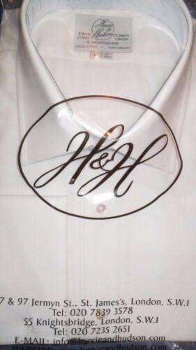 """HARVIE /& Hudson 17.5/""""//38/"""" duplice cotone MARCELLA Camicia Abito RRP £ 89.50"""
