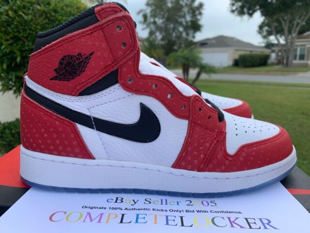 c71d047dcf18 New Nike Air Jordan 1 Retro High OG Origin Story Spider man 575441-602 Boys