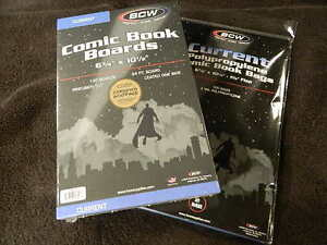 100 New BCW Current Comic Book Bags And Boards - Acid Free - Archival Storage