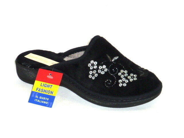 PANTOFOLE CIABATTE DONNA CALDO INVERNO NERO N. 37 MADE IN ITALY