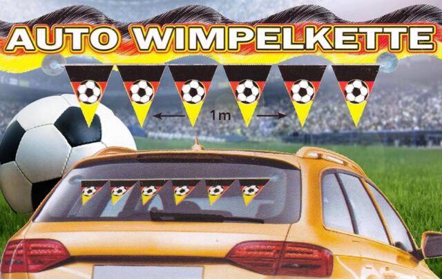 Auto - Wimpelkette Deutschland - ca. 100 cm incl. Saugnoppen