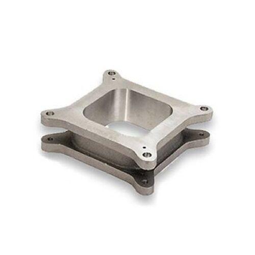 """MOROSO 64970 Carburetor Spacer 4-Barrel Square Bore 2/"""" Aluminum Open"""