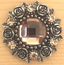 ?| Snap Chunk Antique Like/Peach Color Sets  Charm Fit  Snap Bracelet & Necklace