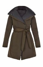 BCBG Max Azria Puffer Coat Long Reversible Duck Down Belted Hayden Oversized NWT