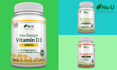 3 for 2 on Vitamins and Supplements from Nu U